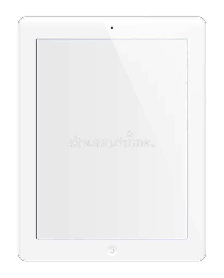 Het wit van IPad HD stock illustratie
