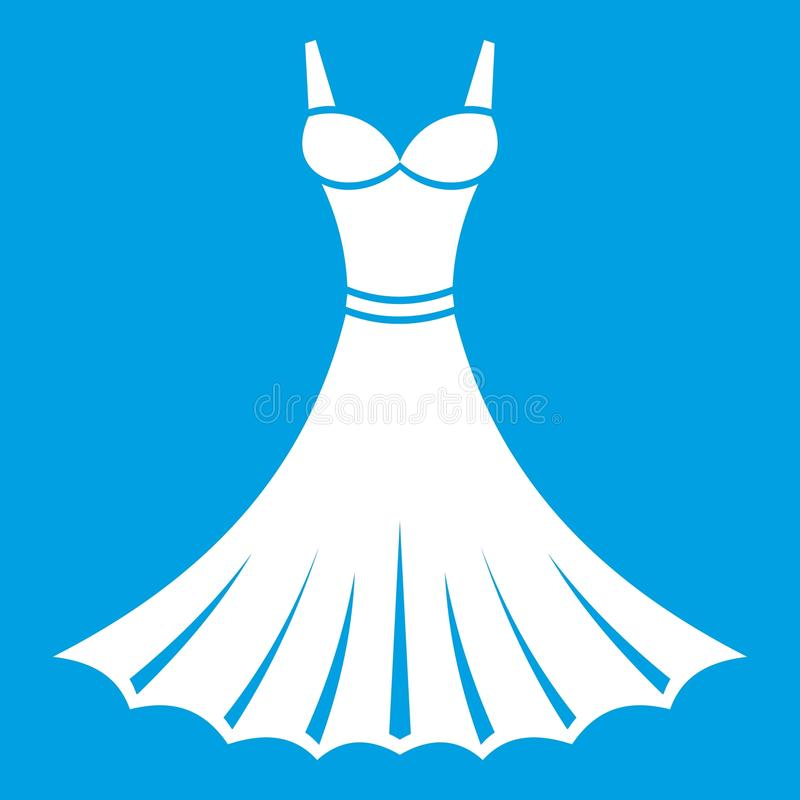 Het wit van het kledingspictogram stock illustratie