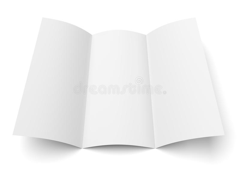 Het Witboekbrochure van pamflet lege trifold vector illustratie