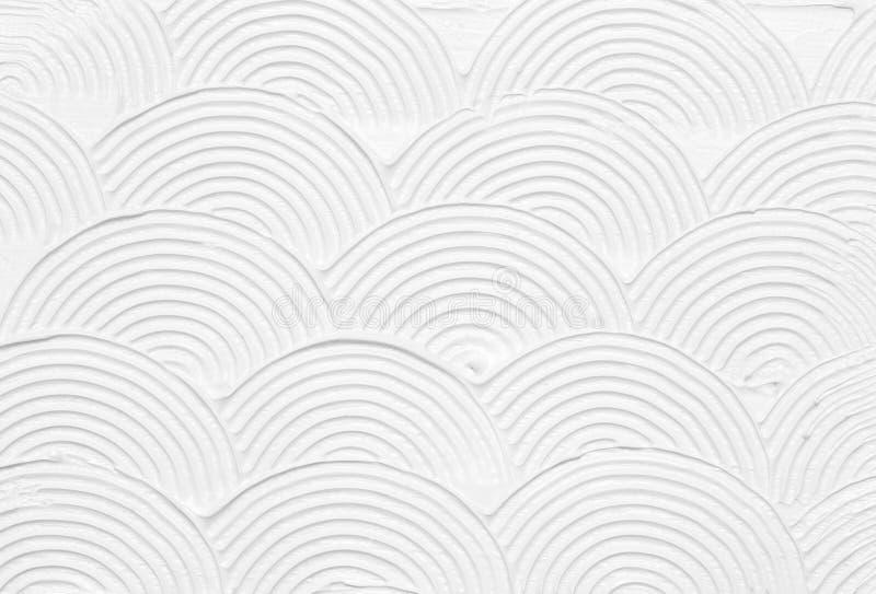 Het witte abstracte textuur schilderen stock fotografie