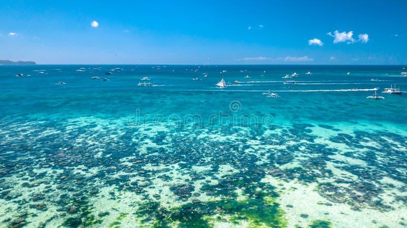 Het witte Eiland Filippijnen Tropisch Paradise van Strandboracay royalty-vrije stock afbeelding