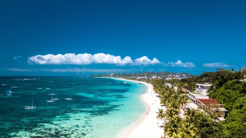 Het witte Eiland Filippijnen Tropisch Paradise van Strandboracay royalty-vrije stock fotografie