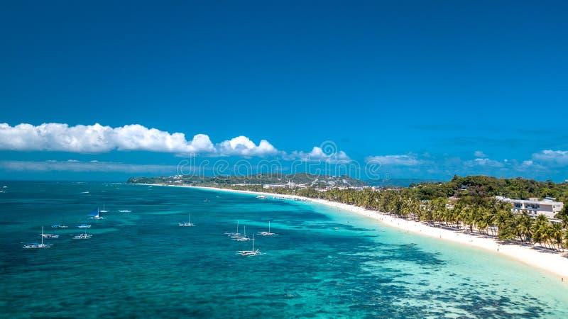 Het witte Eiland Filippijnen Tropisch Paradise van Strandboracay stock foto