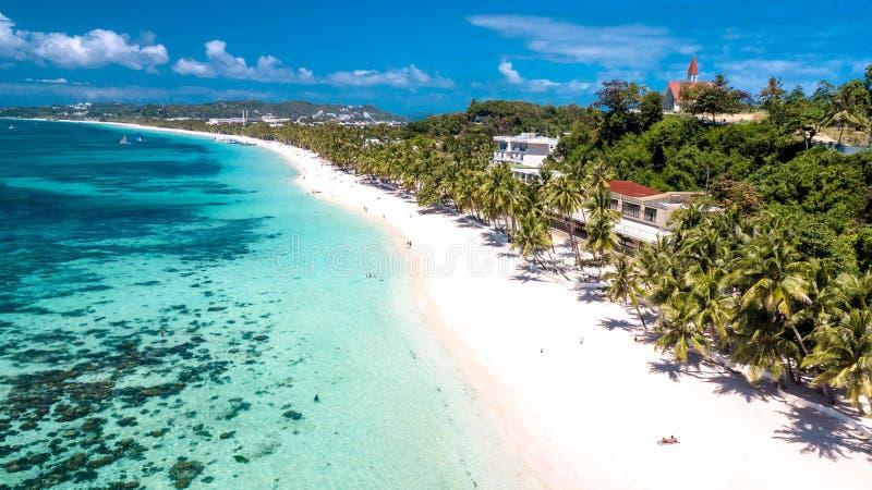Het witte Eiland Filippijnen Tropisch Paradise van Strandboracay royalty-vrije stock afbeeldingen