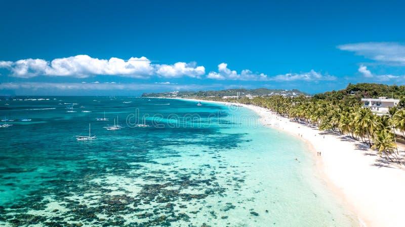 Het witte Eiland Filippijnen Tropisch Paradise van Strandboracay royalty-vrije stock foto's