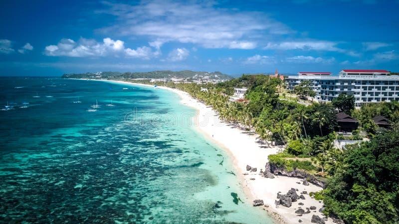 Het witte Eiland Filippijnen Tropisch Paradise van Strandboracay stock fotografie