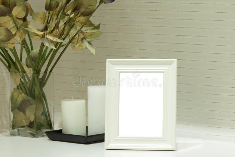 Het witte Frame van de Foto stock foto