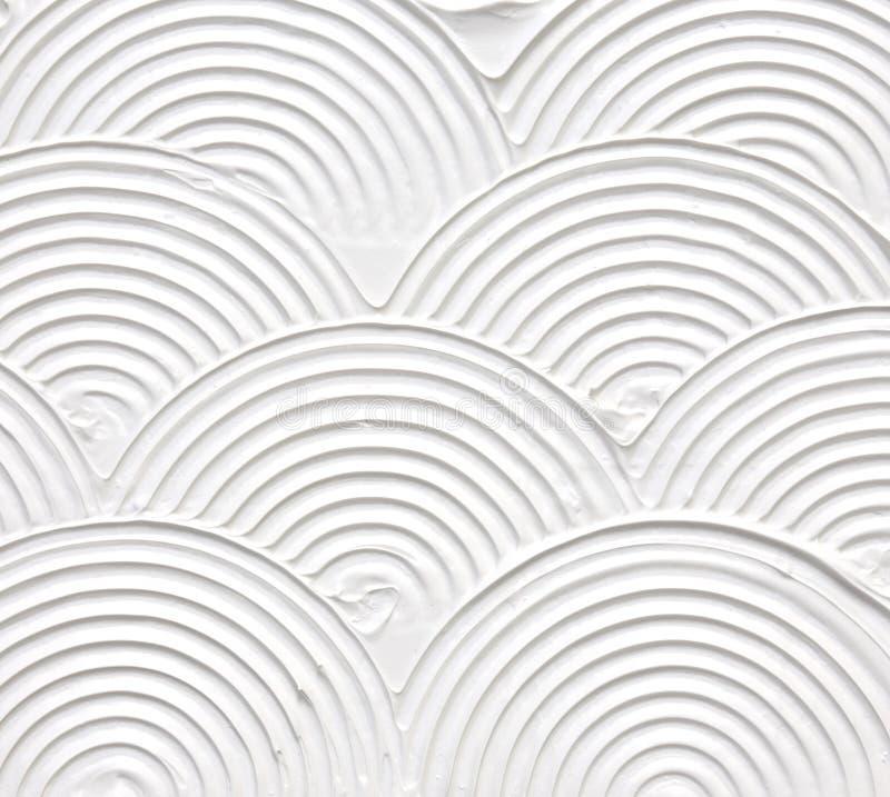 Het witte geweven acryl schilderen stock afbeelding