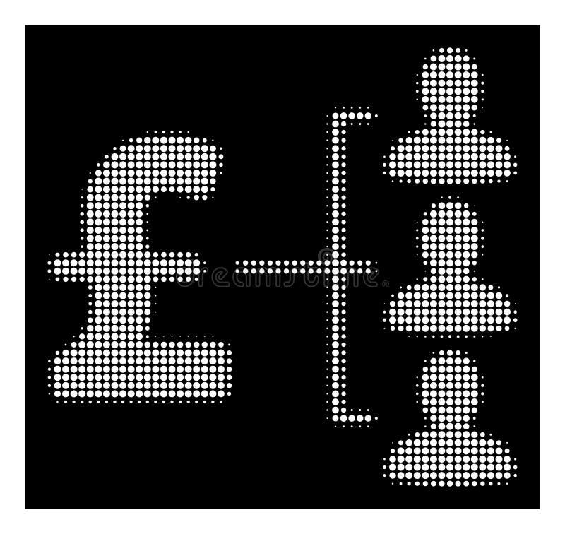 Het witte Halftone Pictogram van Pondontvangers royalty-vrije illustratie