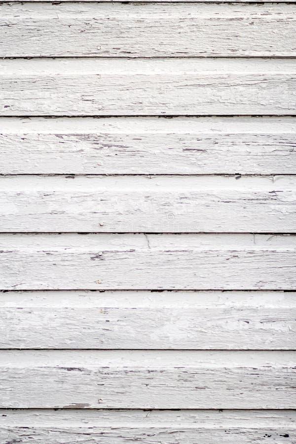 Het witte houten opruimen stock foto