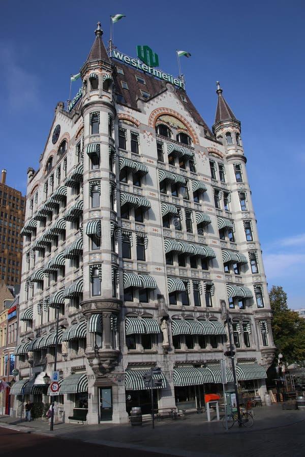 Het Witte Huis biały dom w Angielskim który budują w 1898 w Rotterdam holandie Ja był długim czasem wysokiego biura b zdjęcia royalty free
