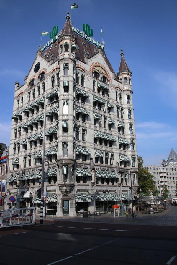 Het Witte Huis biały dom w Angielskim który budują w 1898 w Rotterdam holandie Ja był długim czasem wysokiego biura b zdjęcie royalty free