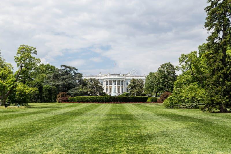 Het Witte Huis van het zuidengazon royalty-vrije stock fotografie