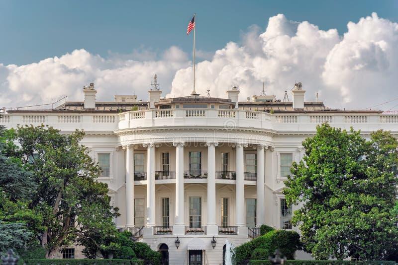 Het Witte Huis in Washington DC, de V.S. bij zonsondergang stock afbeelding