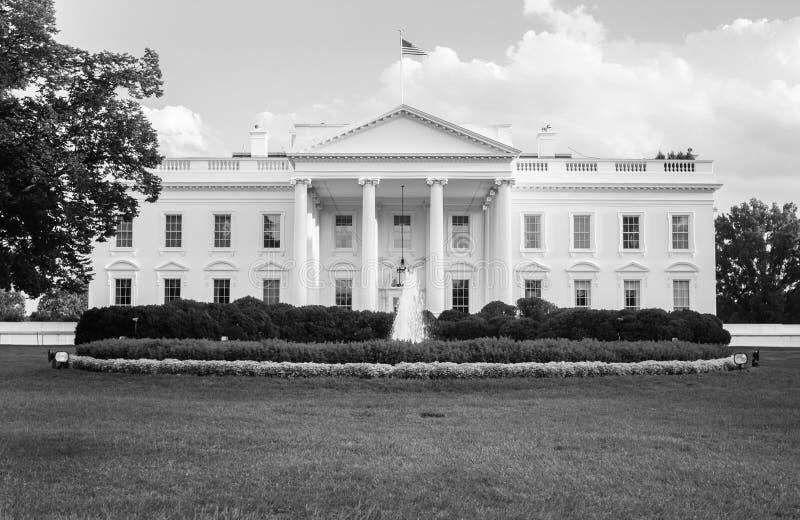 Het Witte Huis in zwart-wit stock afbeeldingen