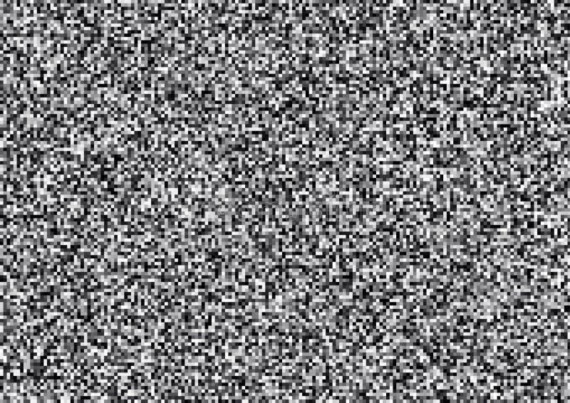 Het witte lawaai, vat zwart-witte korrelachtergrond samen, a4 grootteillustratie vector illustratie