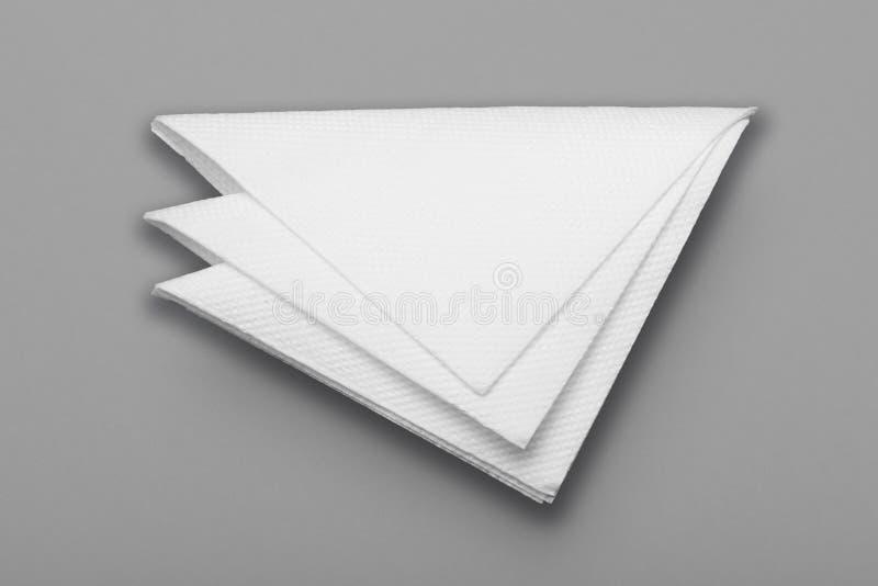 Het witte lege model van het restaurantservet Document oppervlakte voor embleem, ontwerp stock foto