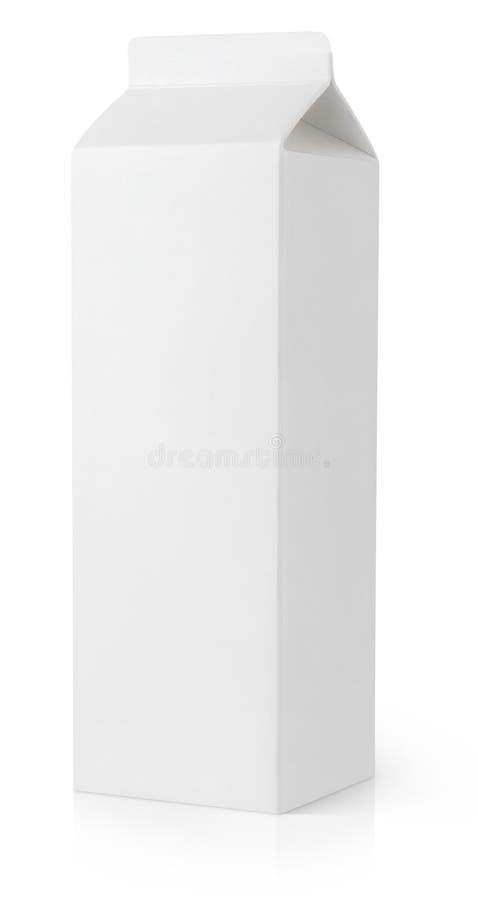 Het witte lege pakket van het melkkarton royalty-vrije stock afbeeldingen