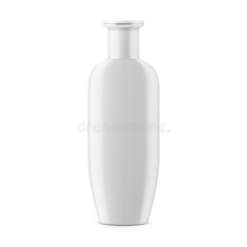 Het witte malplaatje van de shampoofles royalty-vrije illustratie