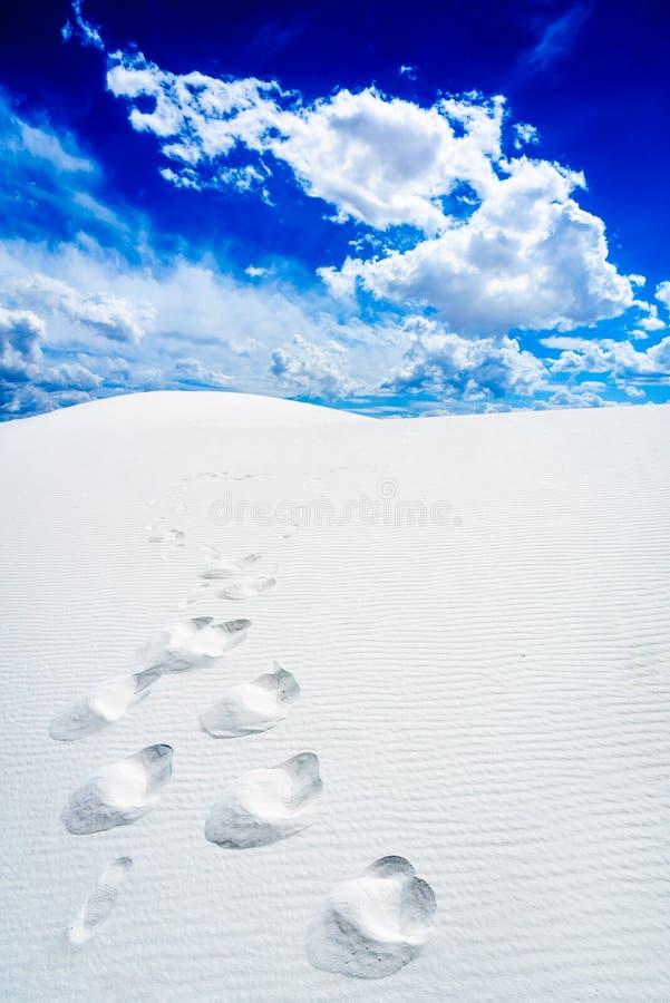Het witte Nationale Monument van het Zand stock foto
