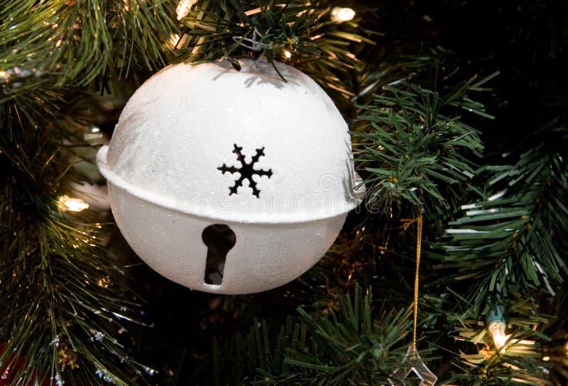 Het witte Ornament van Kerstmis van de Klok royalty-vrije stock afbeelding