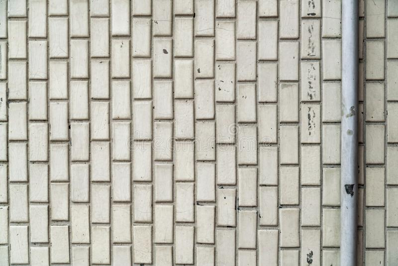 Het witte oude patroon van de keramische tegelmuur royalty-vrije stock foto's