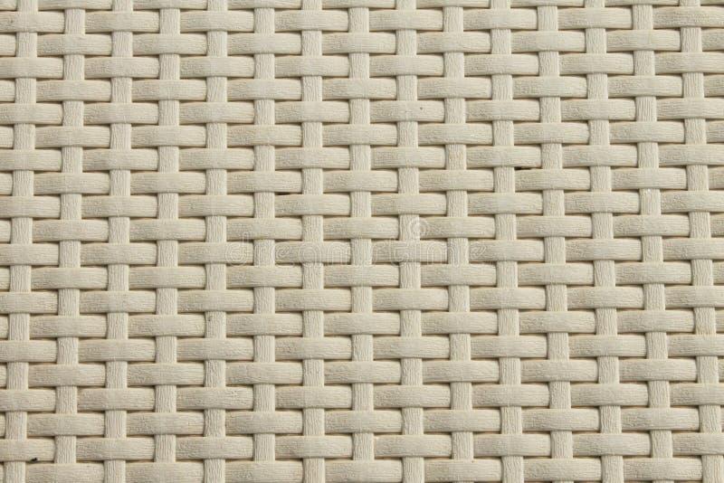 Het witte patroon van het mandweefsel royalty-vrije stock foto's