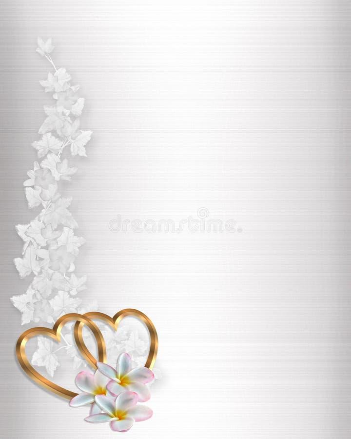 Het Witte Satijn van de Uitnodiging van het huwelijk vector illustratie