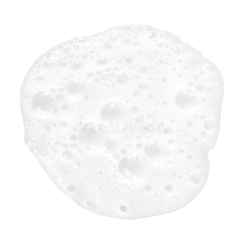 het witte schuim borrelt textuurachtergrond stock foto's