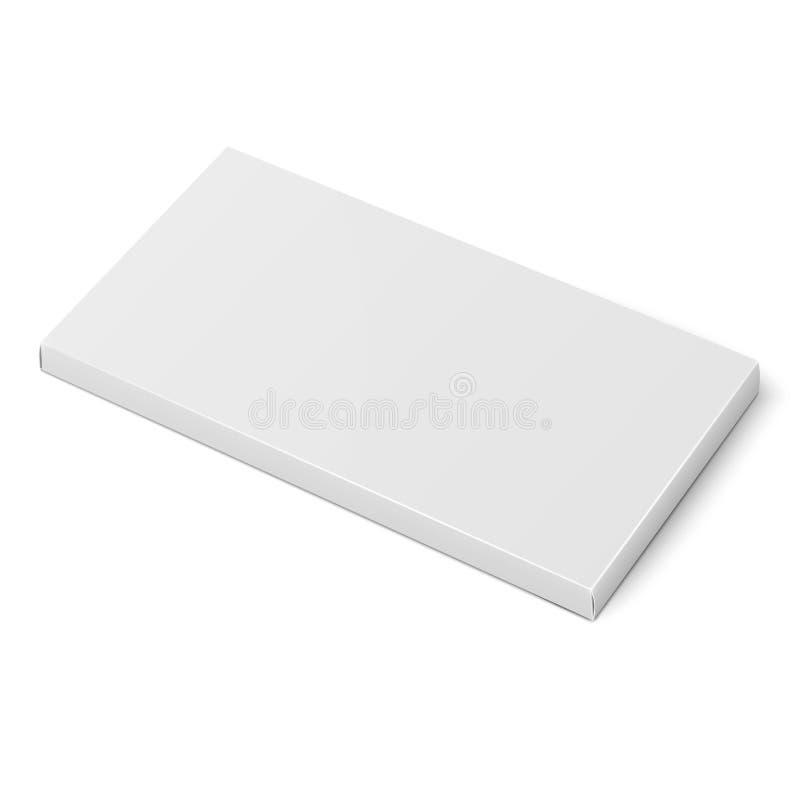 Het witte slanke malplaatje van de kartondoos stock illustratie