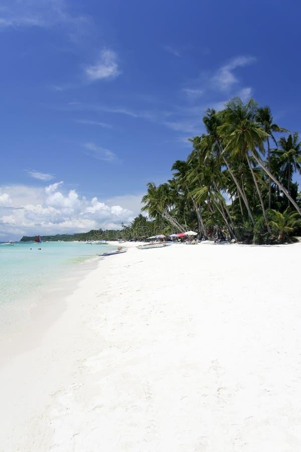Het witte strand van Boracay stock afbeelding