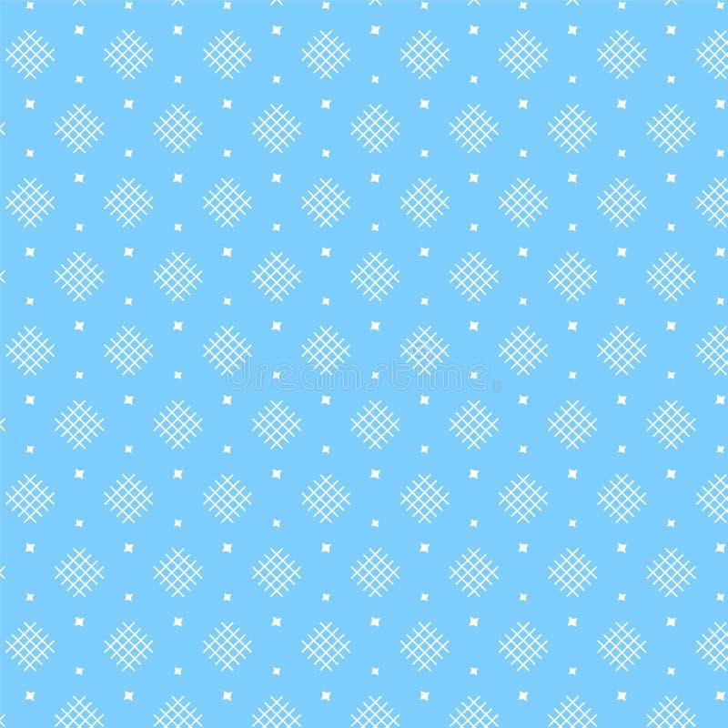 Het witte wevende patroon van de diamantvorm met ster op zachte blauwe backg royalty-vrije illustratie
