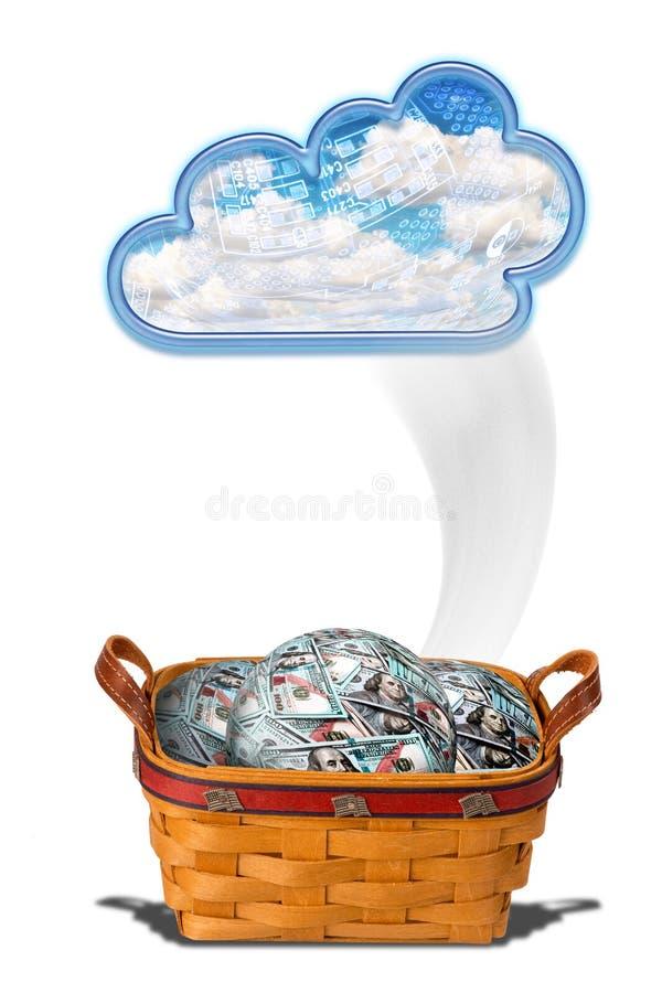 Het Wolkengeld stock illustratie