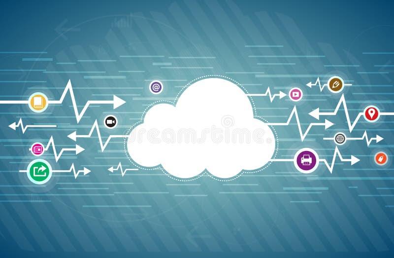 Het wolkenleven stock illustratie