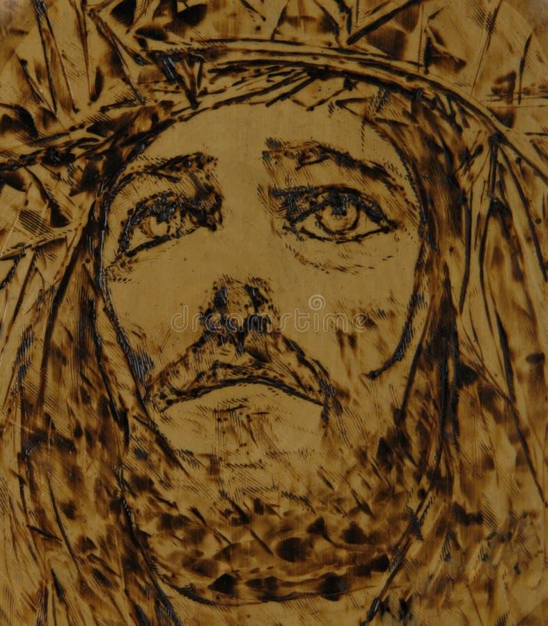 Het woodburning art. van Jesus royalty-vrije illustratie