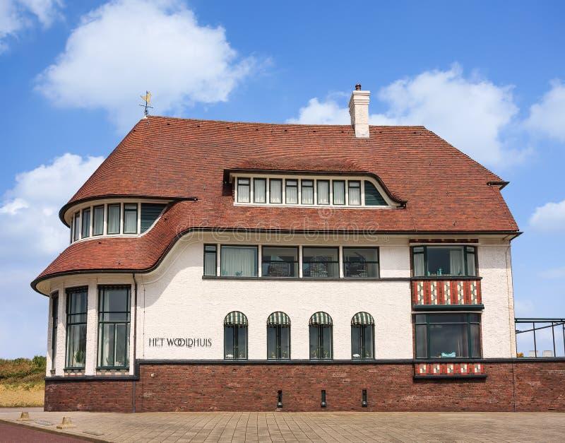 Het Wooldhuis is een historische villa bij het kustgebied van Vlissingen, Nederland royalty-vrije stock fotografie