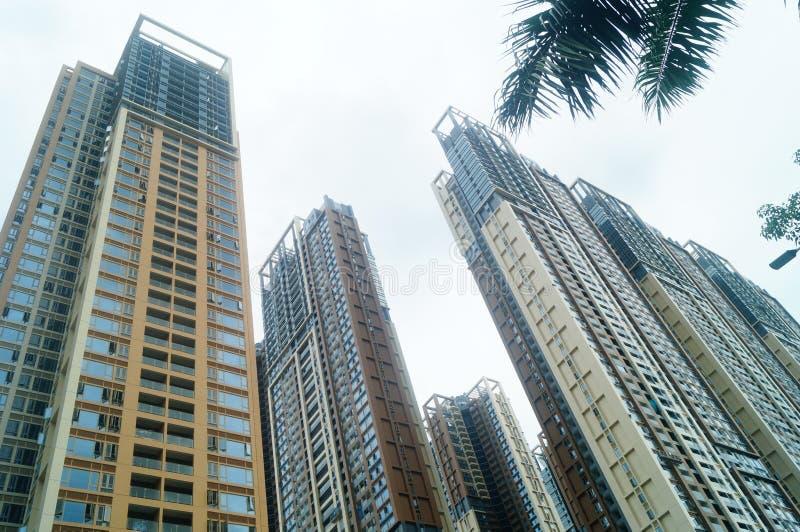 Het woon hoge gebouw is net voltooid stock foto