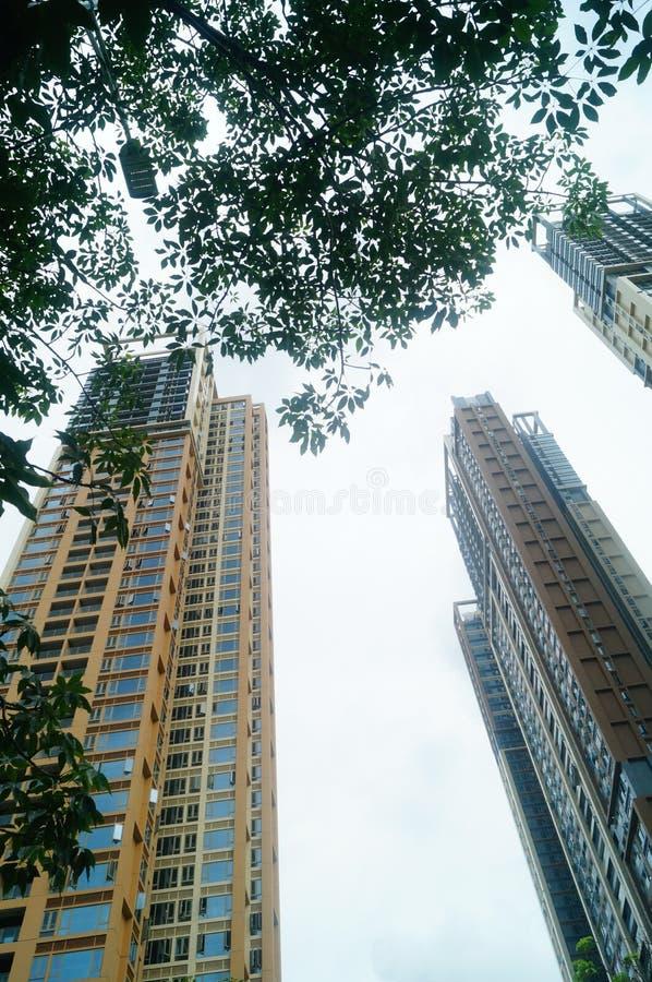 Het woon hoge gebouw is net voltooid royalty-vrije stock afbeelding