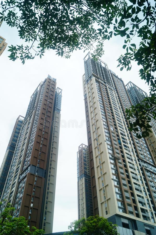 Het woon hoge gebouw is net voltooid royalty-vrije stock foto