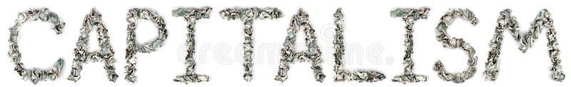Kapitalisme - Geplooide Rekeningen 100$ Stock Foto's