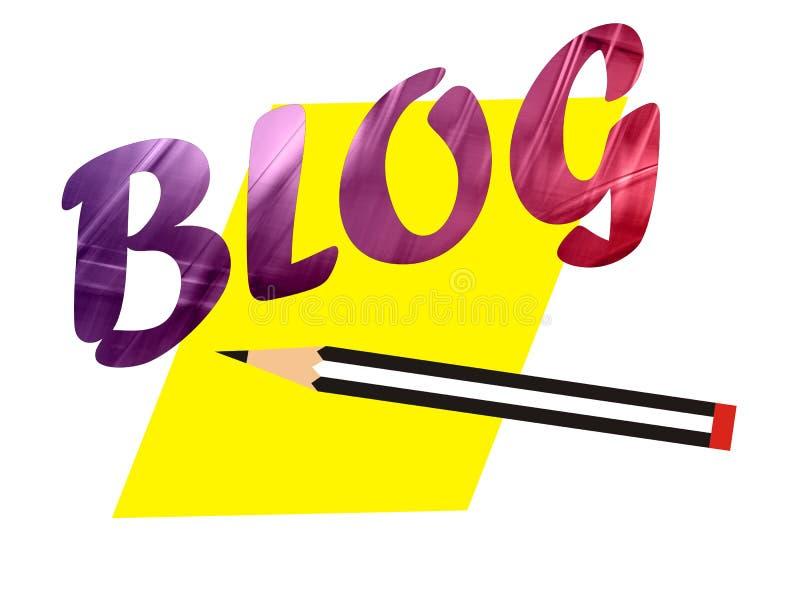 Het woord van Blog stock illustratie