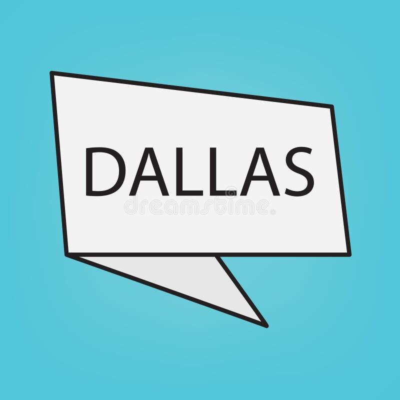 Het woord van Dallas op een sticker royalty-vrije illustratie