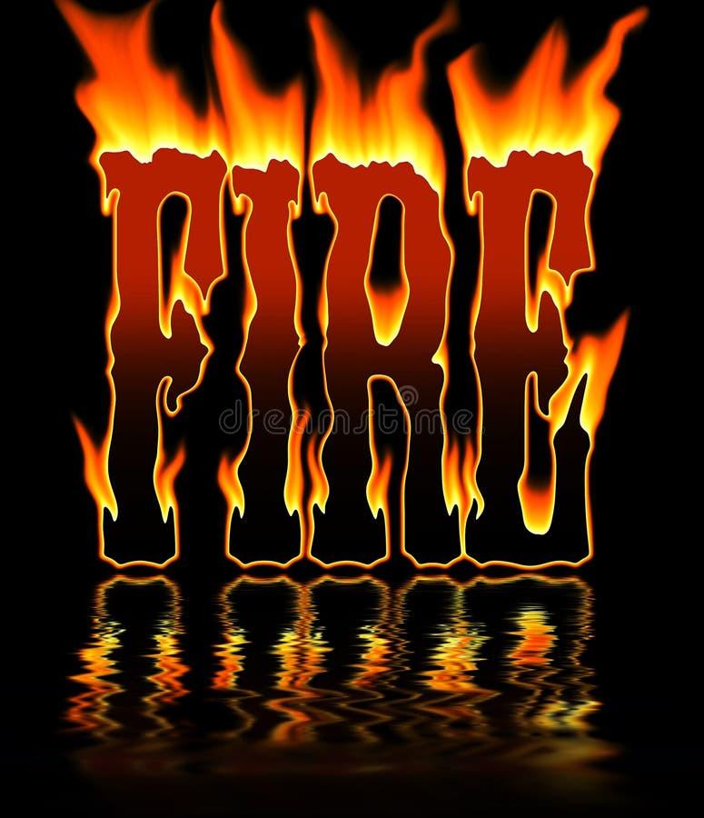 Het woord van de brand stock illustratie