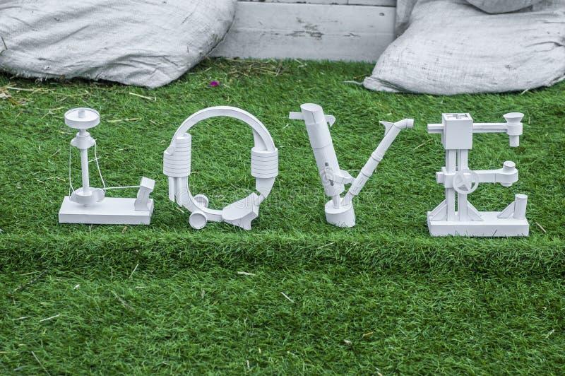 Het woord van de liefde royalty-vrije stock foto