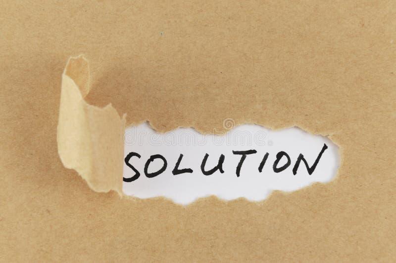 Het woord van de oplossing stock afbeeldingen
