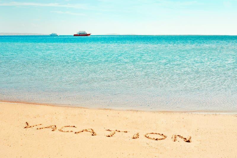 Het woord van de ?vakantie? stock fotografie