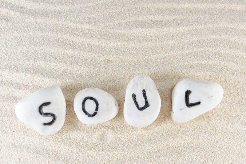 Het woord van de ziel royalty-vrije stock afbeeldingen
