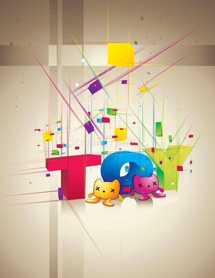 Het woord van het stuk speelgoed   stock illustratie