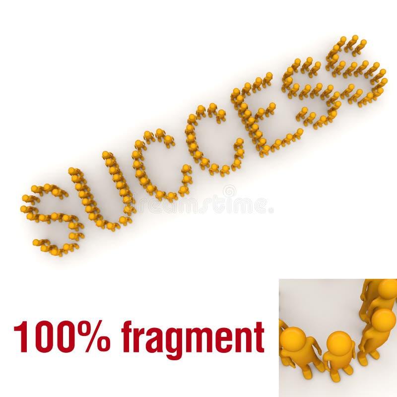 Het woord van het SUCCES opgezet door uiterst kleine karakters stock illustratie