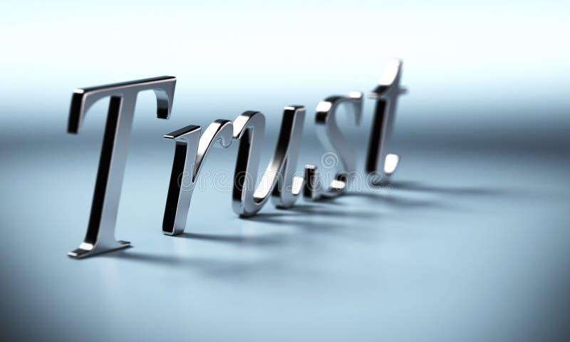 Het woord van het vertrouwen stock illustratie